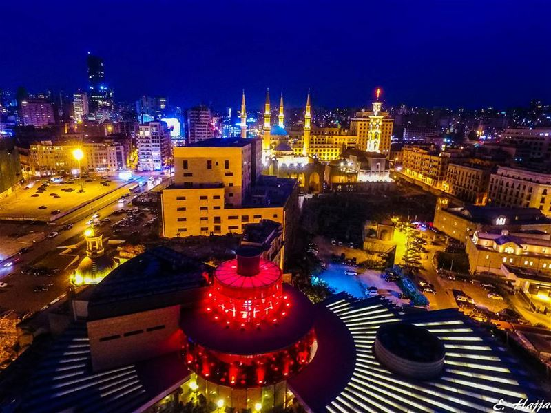 Beirut by drone. Hovering over 'indigo on the roof'@dronekoning dji ...