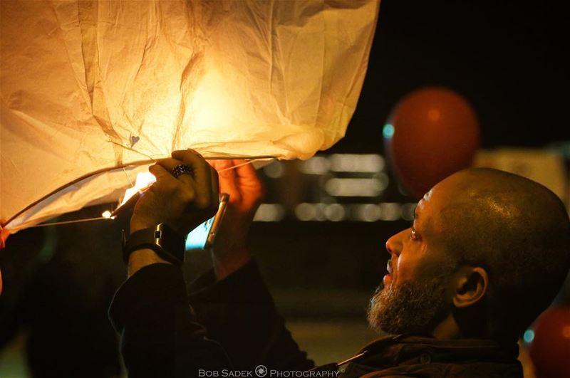 H O P E 🏮 bobsadekphotography lantern event deeds deedslebanon ... (Beirut Waterfront)