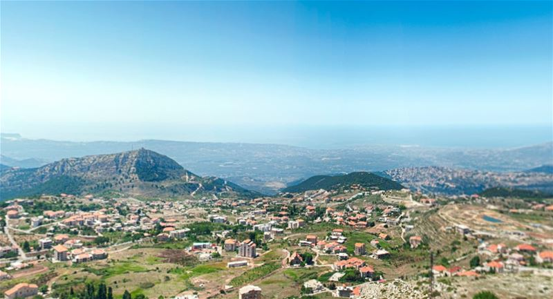 Panoramic Tour from Saydet El Hosn Ehden (Sea and Mountain 200 Degrees Panorama)