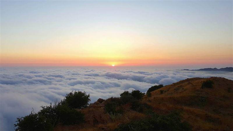 At the Skyfall ⛅لما نزل السما على الأرض 😜... sunset summer cliff ... (Lebanon)