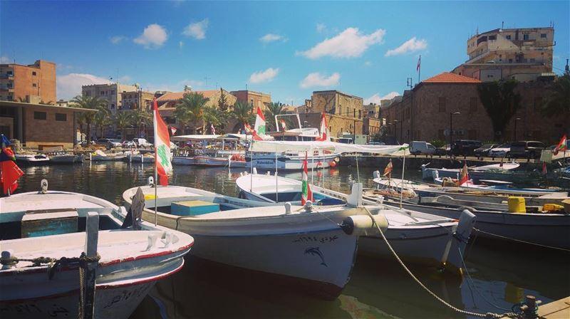 ~..You will always flutter..~🇱🇧⚓️🛶 lebanonflag lebanon flag... (Tyre Fishermen Port.)