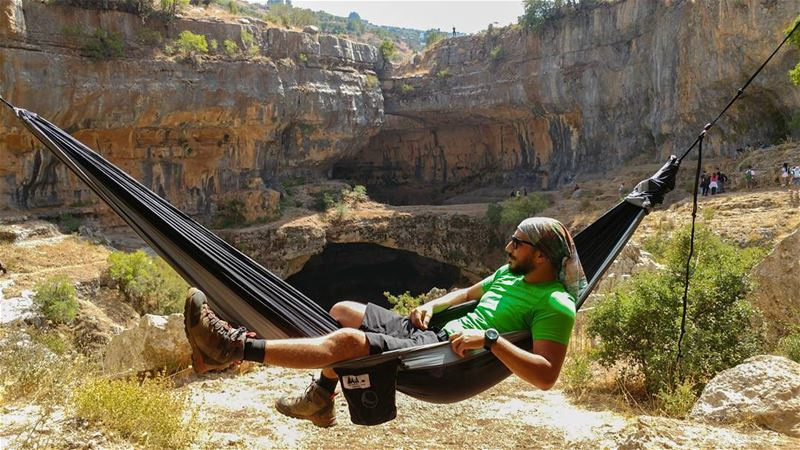 How to chill after a hike with @tickettothemoonlebanon 🌴〰🌴 ... (Baatara gorge waterfall)