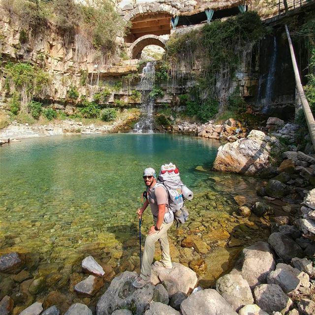 How to refresh your body after 2 days hiking 👌❄⛄🙃 myadventureslebanon.... (Lebanon)