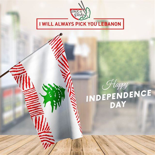 Happy Independence Day from @pokebeirut 🇱🇧😍. happyindependenceday ... (Beirut, Lebanon)