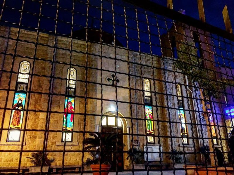 "Calm Night Faith and Hope 💛""Jesus is born Hallelujah""❤️(Location: كنيسة (Furn El Chouback)"