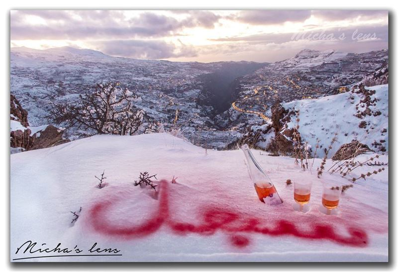 Happy new year from me, my village Sebhel, cedars of God and the valley of...