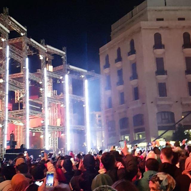 Happy new year beautifullebanon beirutcelebrates2018 livelovebeirut ... (Downtown Beirut)