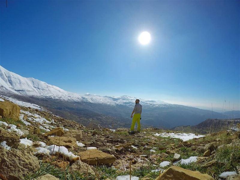 The beautiful Mt.Sannine🗻🚶---------------------------------------------- (Lebanon)