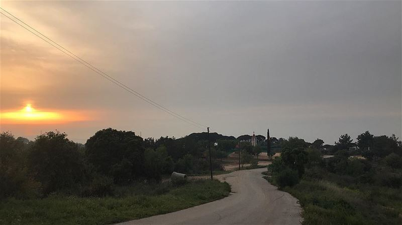 ~..Expanding your flame..~🔥🇱🇧 sunset road church wild free life ... (Roumieh)