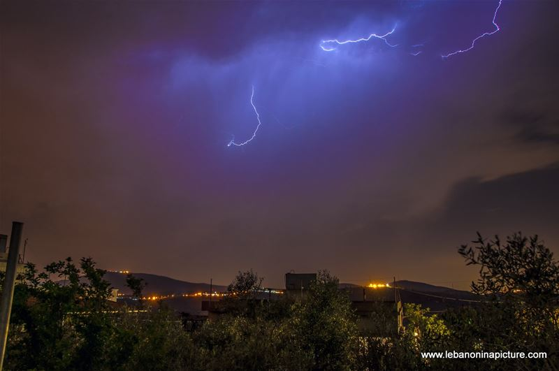 Lighting Strikes at the Eastern Easter Holiday (Yaroun, South Lebanon)