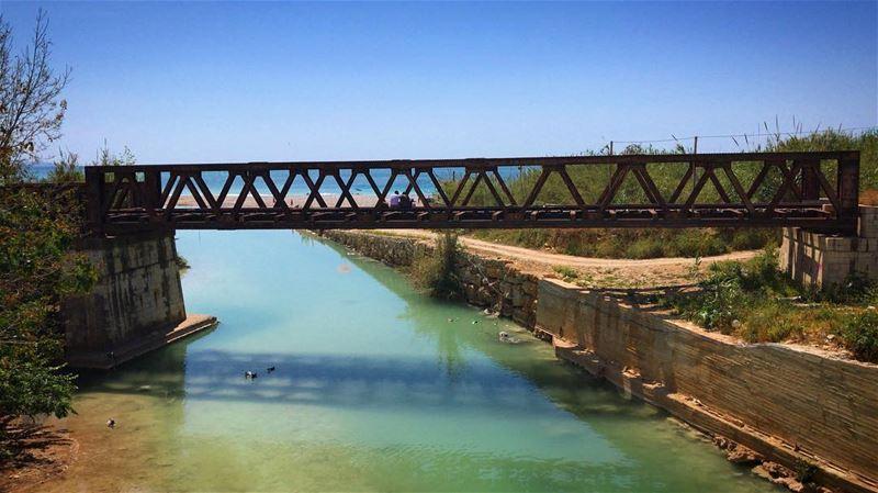 ~..Bridge Conversations..🌉~🌿🇱🇧 bridge beach morenature lovepower... (Nahr Ibrahim, Mont-Liban, Lebanon)