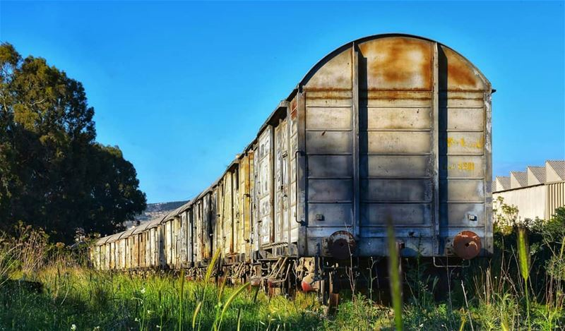 lebanon beirut photography bluesky train rail oldtrain green ... (Shikka, Liban-Nord, Lebanon)