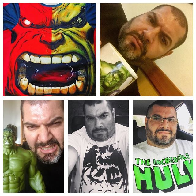 me myself selfie hulk abouja2ra mood character marvel ... (Fanar, Mont-Liban, Lebanon)