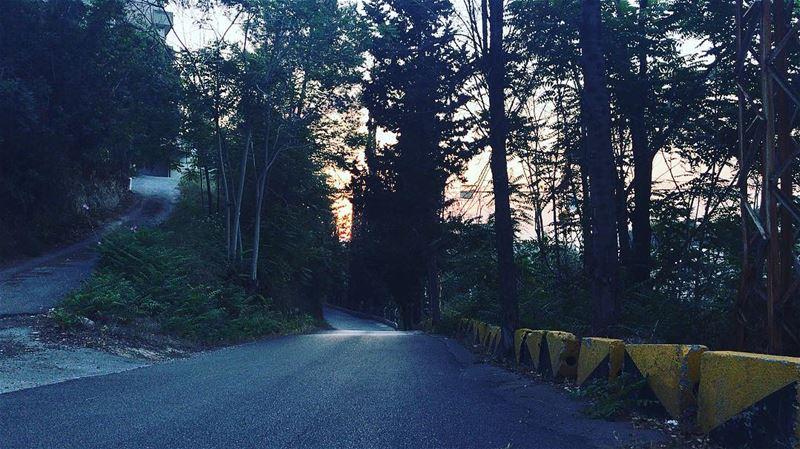 I will take the sunset path🌺 beirut 🇱🇧 roadtrip awalkinbeirut ...