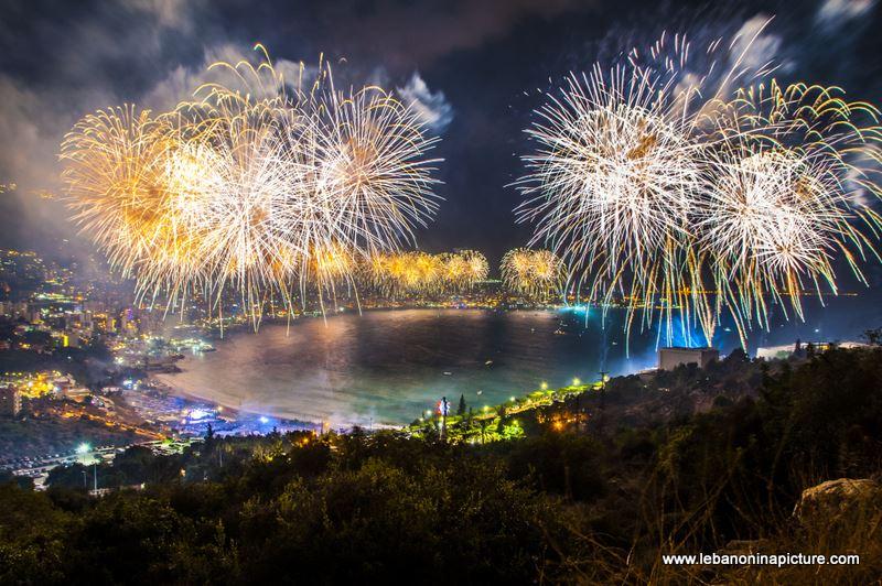 Jounieh International Festival Opening Fireworks Show - Full Video