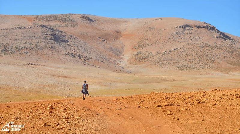 Walking on Mars 🌋 myadventureslebanon lebanon hikinglife outdoorlife...
