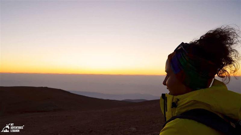 The last bits of light 🌅🗻 myadventureslebanon trekking hiking ... (Qurnat as Sawda')