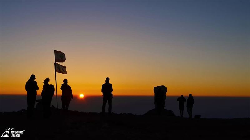 The last seconds 🌅From the top of Lebanon, Ornet el Sawda🗻...