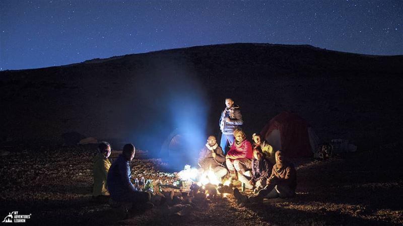 Cold nights 🌙 myadventureslebanon lebanon camping bonefire ...