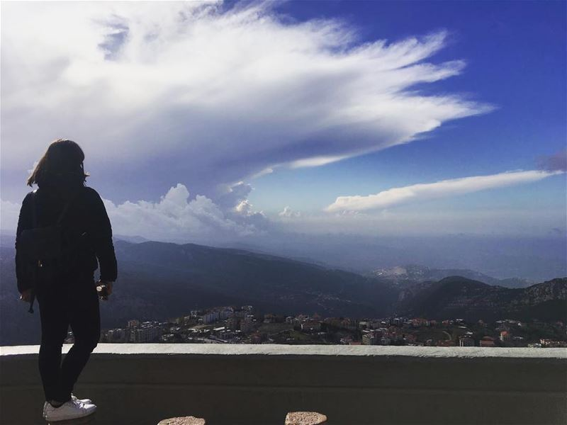 Dare to dream big 🌍👟🇱🇧•••• vibes sky positivity hope view ... (Saydet El Hosn - Ehden)