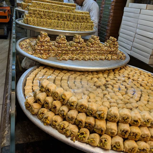 baklawa sweet tasty delicious yummy yummyfood instafood food ... (دمشق - Damascus)