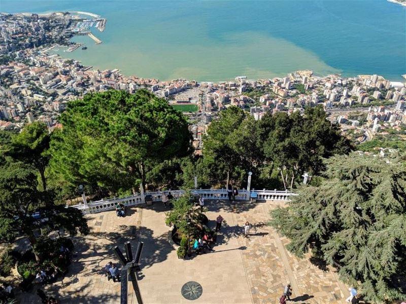 صباح الخير من حريصا 😍photo taken by @dasaziduliakova・・・ morning... (Harîssa, Mont-Liban, Lebanon)