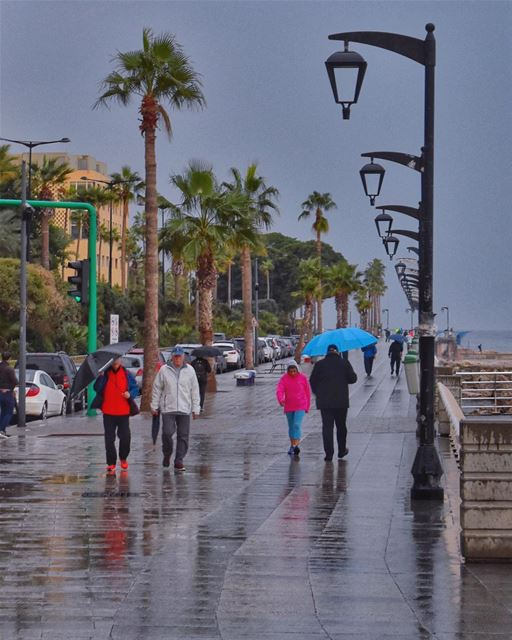 Beirut rainy mornings 😍☔️♥️________________________________________... (Beirut, Lebanon)
