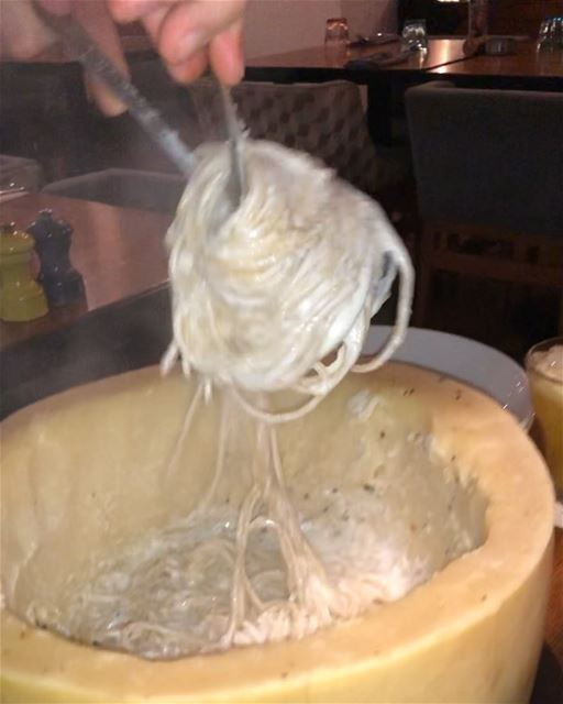 that was so yum parmesan wheel pasta instafood foodporn foodies ... (SUD Restobar)