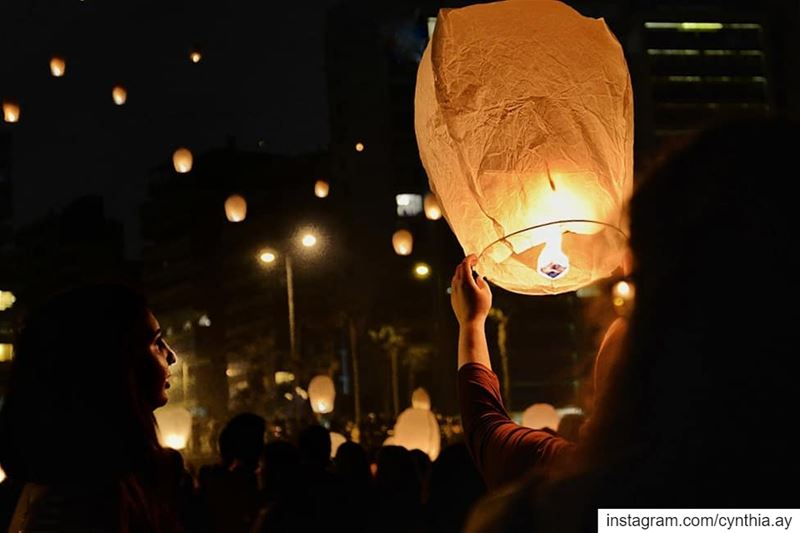 Beautiful wishes flying up • Merry Christmas & Happy new year • ... (Beirut, Lebanon)