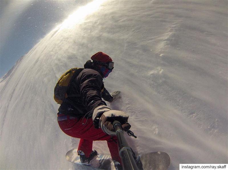 Snowboarding madness‼️.... ............... lebanon ... (The Slopes)