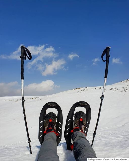Lost in a white desert 🗻 myadventureslebanon mountaineering ... (My Adventures Lebanon)