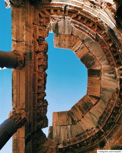 2nd century AD architecture... instagood webstapick photooftheday ... (Baalbek , Roman Temple , Lebanon)