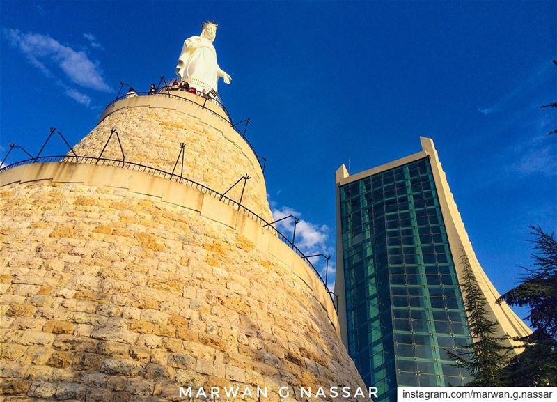 Quasi cedrus exaltata sum in Libanoإرتفعت كالأرز في لبنان...📍Notre... (Our Lady of Lebanon)