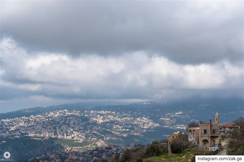The clouds and the view. trees treeworld tree clouds cloud sky ... (Lebanon)