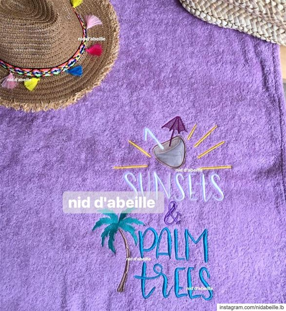 Sunsets & palm trees 🌴 get your set for the summer🌞 Write it on fabric...