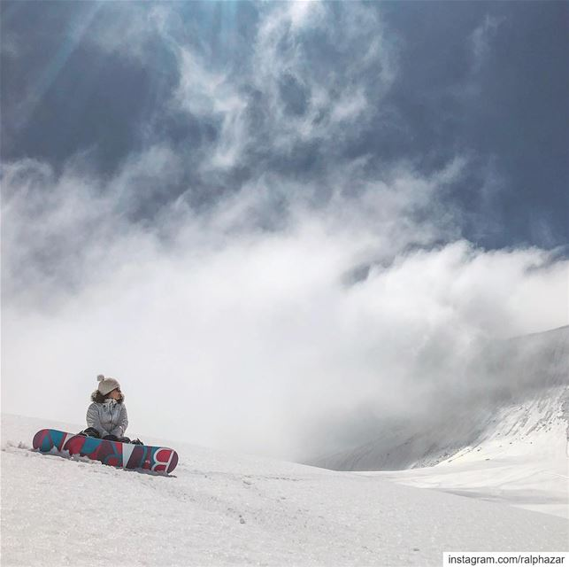 chilling 🏂🙌🏻 ❄️ 🏔 Mzaar kfardebian winter / spring 2019....... (Mzaar Ski Resort Kfardebian)