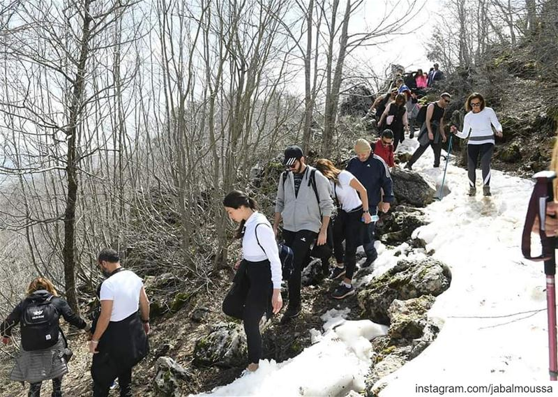 Another beautiful hiking day in JabalMoussa! unesco unescomab ... (Jabal Moussa Biosphere Reserve)