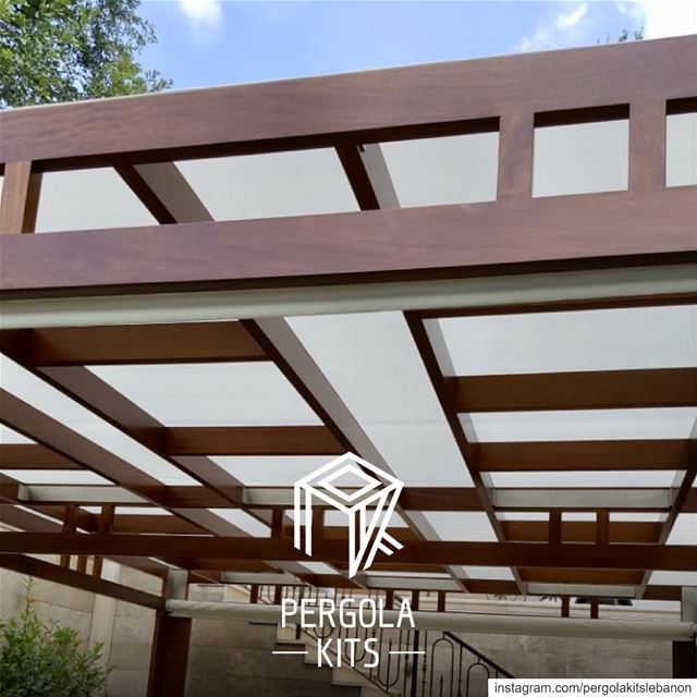 Steer away from the usual slats and go for Geometric Screens & Roof for...