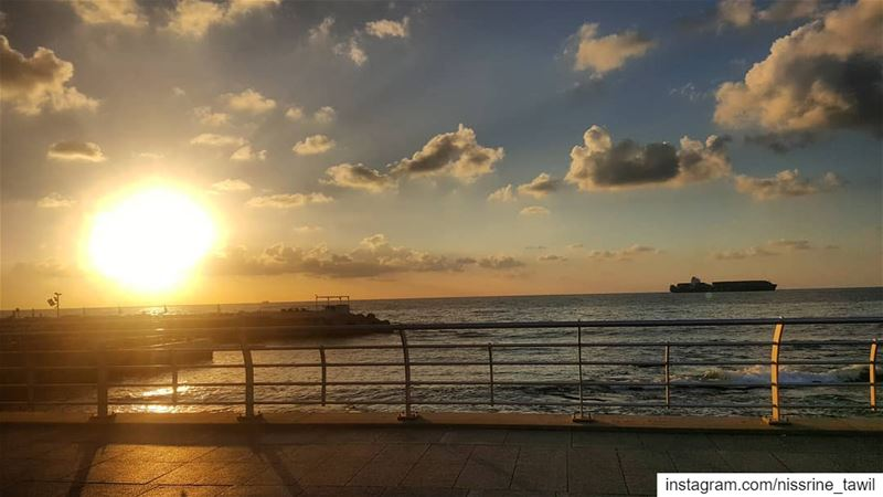 Don't forget...Beautiful sunsets need cloudy skies🌠 sunset beirut ... (Beirut, Lebanon)