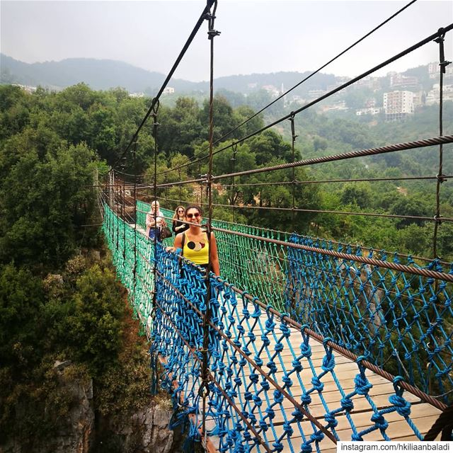 How high you will get your adrenaline crossing a suspended bridge 🤩🤩🤩....