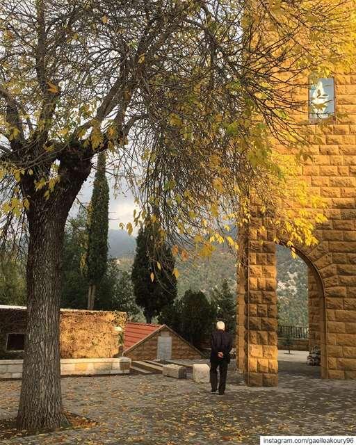 """A walk in nature walks the soul back home."" fall fallseason mountain ... (Ehmej, Mont-Liban, Lebanon)"