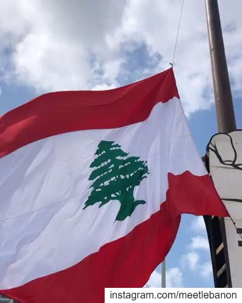The Lebanese Flag on martyrs' square has been replaced today thanks to a... (Beirut, Lebanon)
