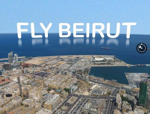 First Aerial 360° view above Beirut
