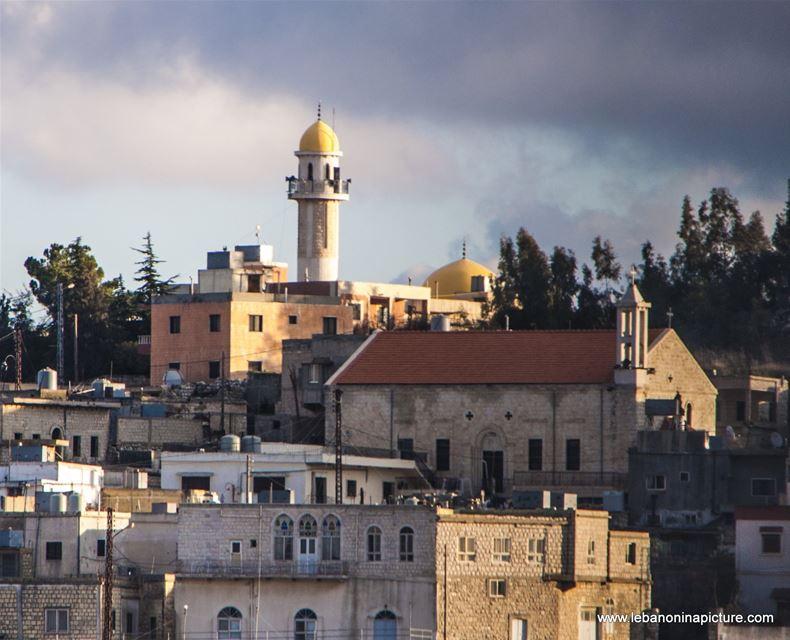 Buildings, Mosque and Church (Yaroun, South Lebanon)