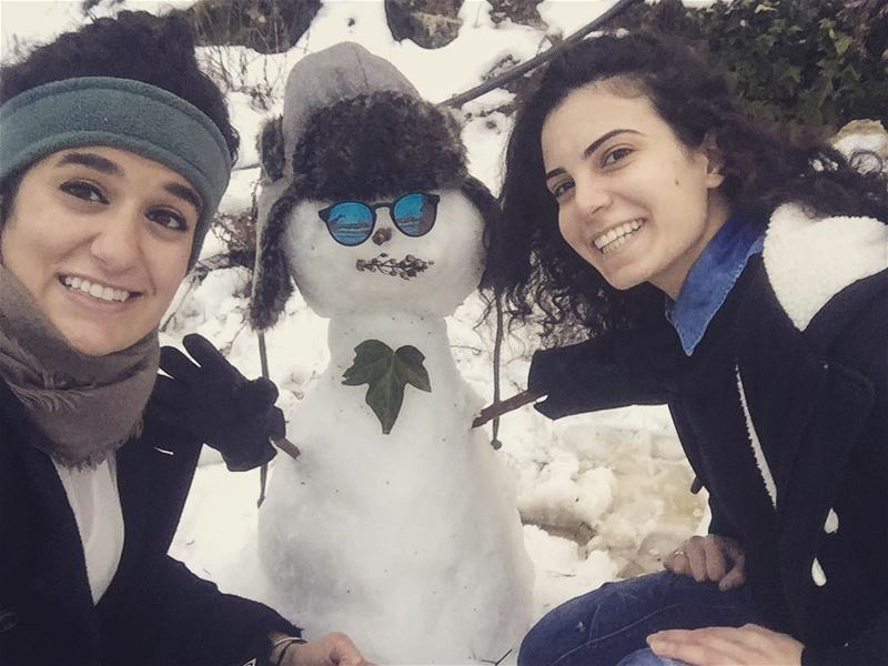 """""""Snowman,the best kind of man! When tired of them, just turn up the heat""""... (St Charbel Aanaya)"""