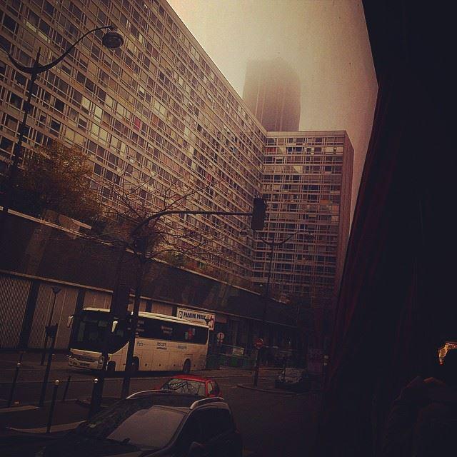 freezing paris montparnasse france fog weather foggy sucks cantsee...