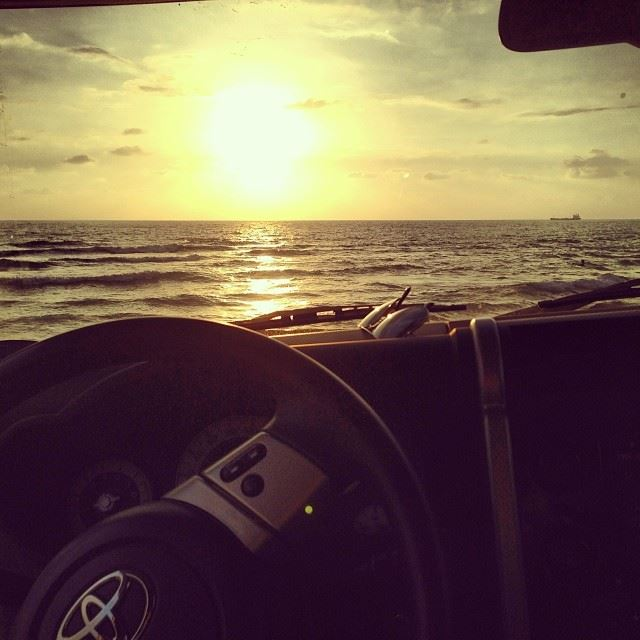 sunset wednesday sea toyota fj offroad beach waves sky view relaxation ...