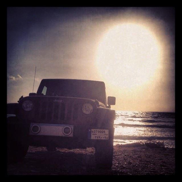 sunset beach offroad wrangler first time 4x4 jeep batroun lebanon besty...