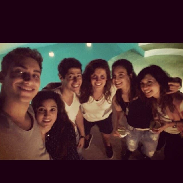 And so we had a selfie haha saturday night rooftop alcohol beirut ...