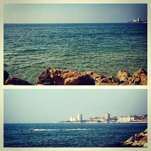 as close as it could get missing beach lebanon kaslik rocks waves fish...